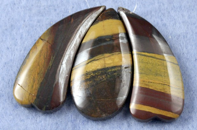 Natural Tiger Eye Necklace Focal Beads 3 pieces SP-21