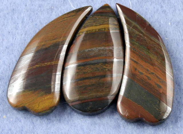 Natural Tiger Eye Necklace Focal Beads 3 pieces SP-22
