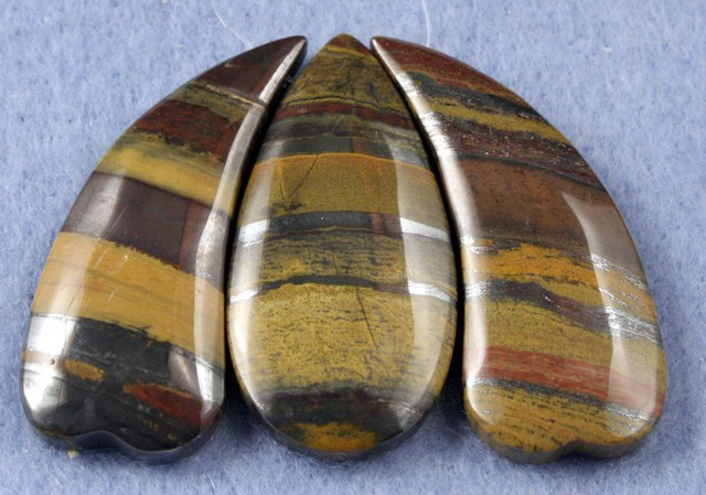 Natural Tiger Eye Necklace Focal Beads 3 pieces SP-25