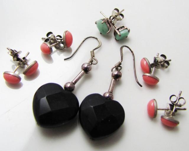 7  MIXED GEMSTONE EARRINGS-RE SELLERS PARCEL  MJA 1020