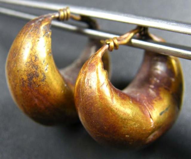 Roman Ancient Gold Loop earrings  GR OP 1834