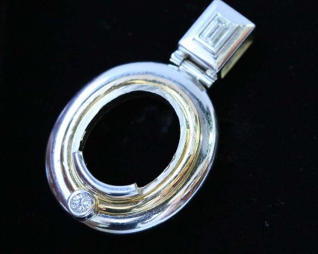 18 k white gold pendant setting LGN 951