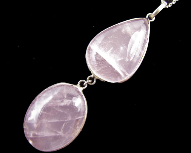 92 Cts  Rose Quartz in Silver  Pendants      MJA 618