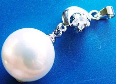 WHITE PEARL PENDANT 13.5 MM  25CTS [PF730]