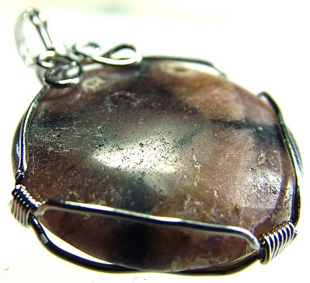 CHAISTOLITE 'CROSS STONE ' WIRE WRAPPED 57.00 CTS [GT377 ]
