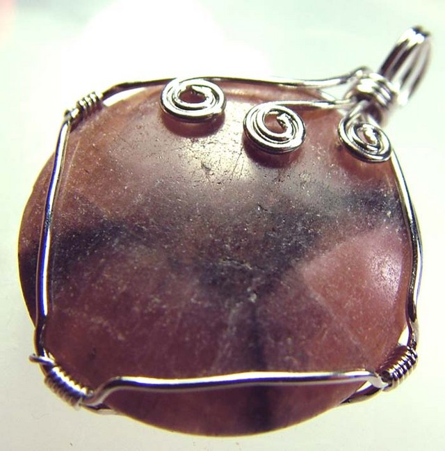 CHAISTOLITE 'CROSS STONE ' WIRE WRAPPED 59.75 CTS [GT407 ]