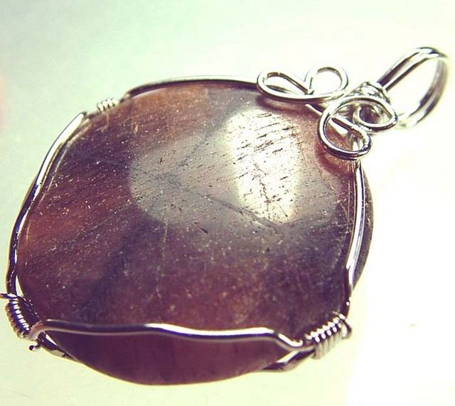 CHAISTOLITE 'CROSS STONE ' WIRE WRAPPED 52.45 CTS [GT408 ]