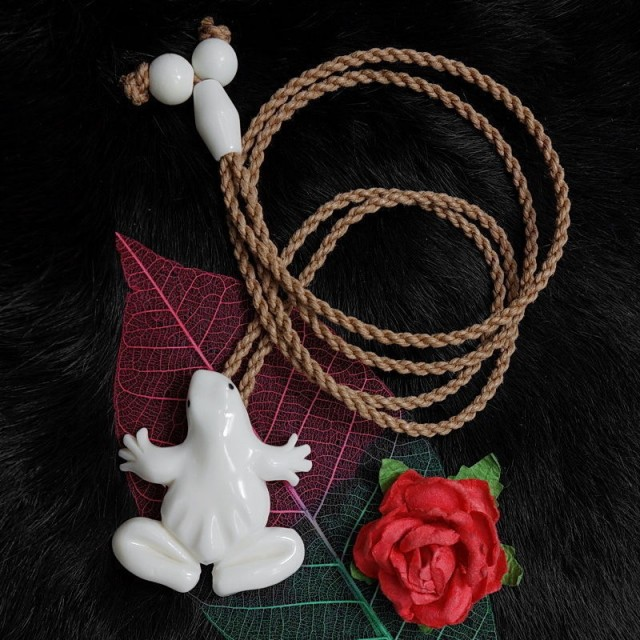 Maori Frog Necklace Surfer, Beachcomber, Tribal Pendant Necklace