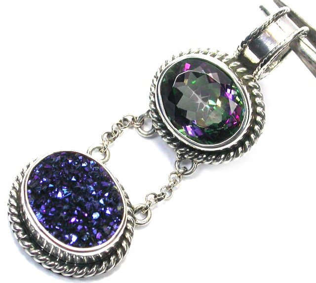 GEMSTONES PENDANT DIRECT FROM FACTORY SILVER 36.30CTS SJ1171
