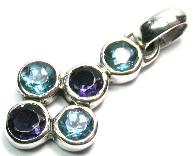 GEMSTONES PENDANT DIRECT FROM FACTORY SILVER 8.05 CTS SJ1185