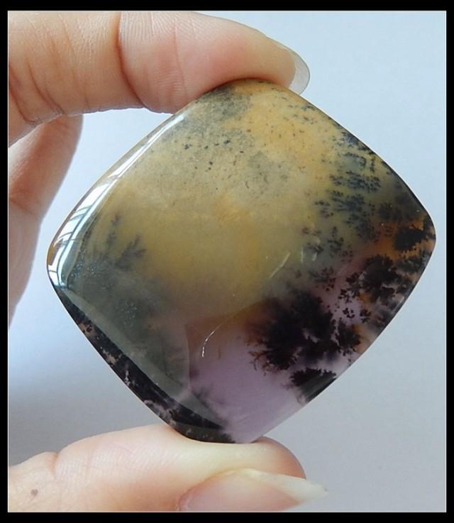Fabulous! Natural Purple Dendritic Agate Gemstone Cabochon,90ct