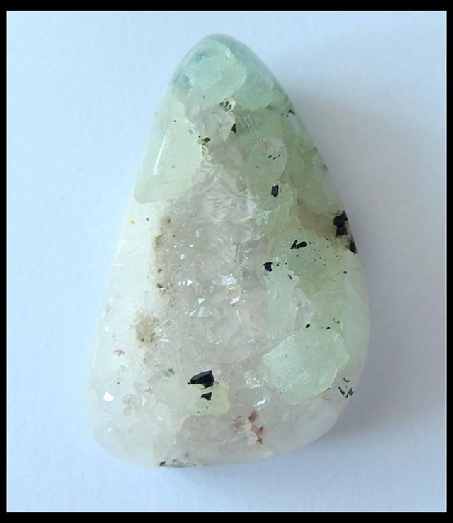 59.5Ct Natural Druzy BABINGTONITE Pendant Bead ,Druzy Gemstone
