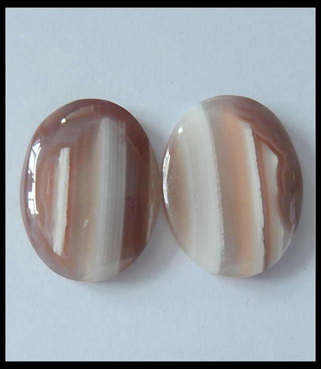 56.2Cts Natural Agate Gemstone Cabochon Pair