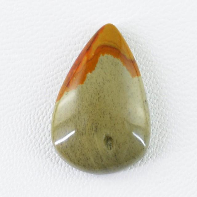 Genuine 16.85 Cts Polygram Jasper Pear Shaped Cab