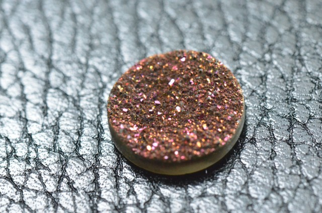 15mm deep pink round druzy AAA quality 15mm by 4mm deep