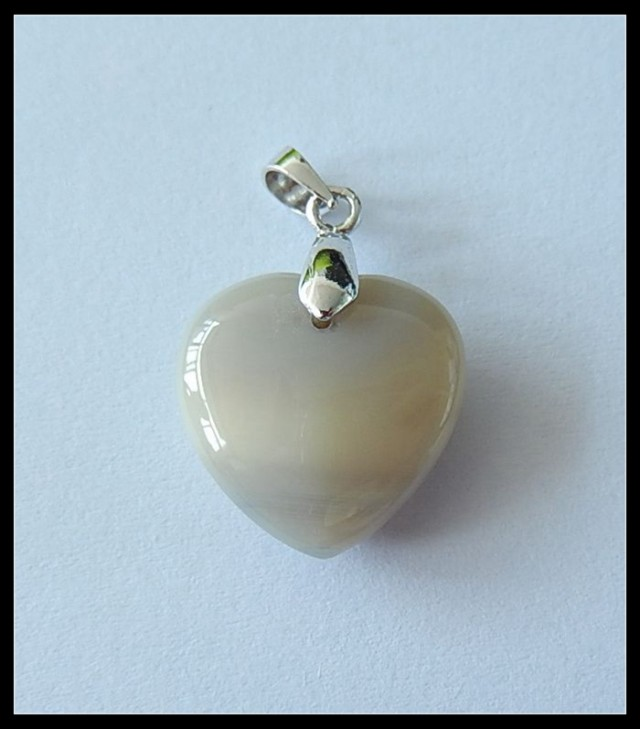 Heart  Agate Gemstone Pendant Jewelry,11cts