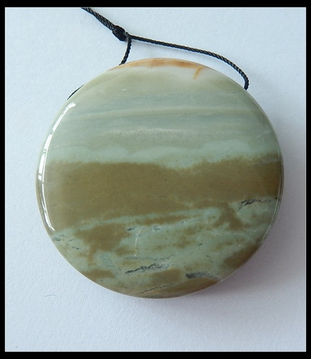 178cts Natural Ocean Jasper Round Pendant Bead