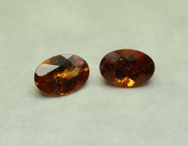 SPESSARTITE GARNET OVAL PAIR
