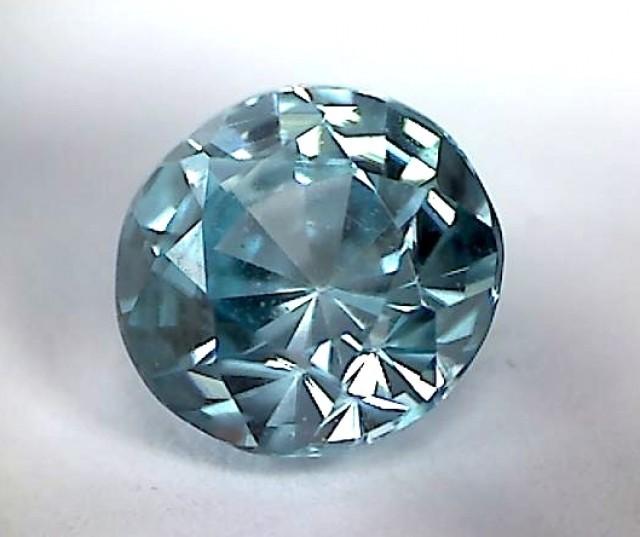 Glows with Brilliance PRECISION CUT Blue Zircon - VVS - CM03