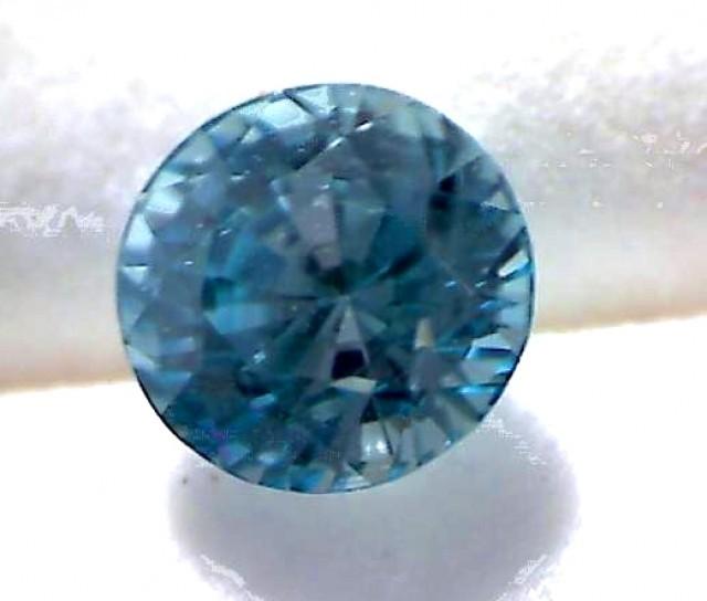 Glows with Brilliance PRECISION CUT Green-Blue Zircon - VVS - CM02