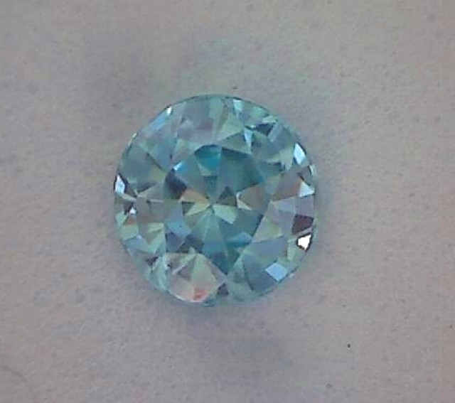 Glows with Brilliance PRECISION CUT Green-Blue Zircon - VVS - CM01