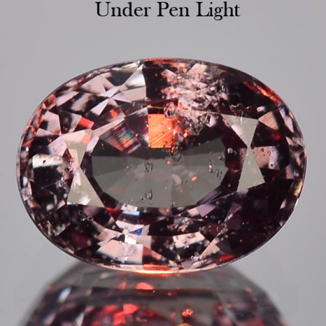 1.08 Cts WONDERFUL NATURAL PURPLE GREEN TO RED COLOR CHANGE GARNET TANZANIA