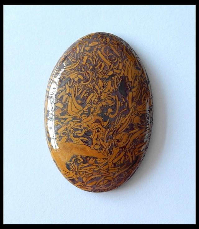 91Cts Natural Callgraphy Stone Cabochon