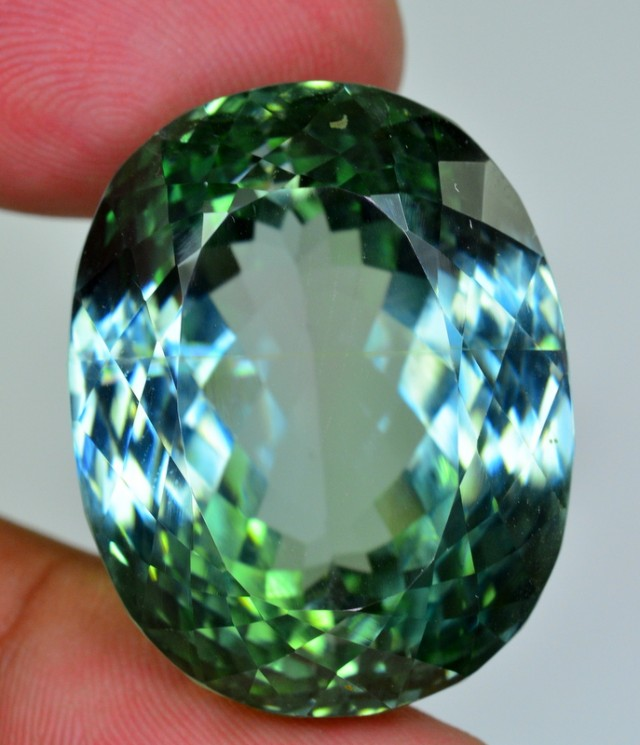 natural 107.15 ct amazing faceted Rare color SPODUMENE GEMSTONE