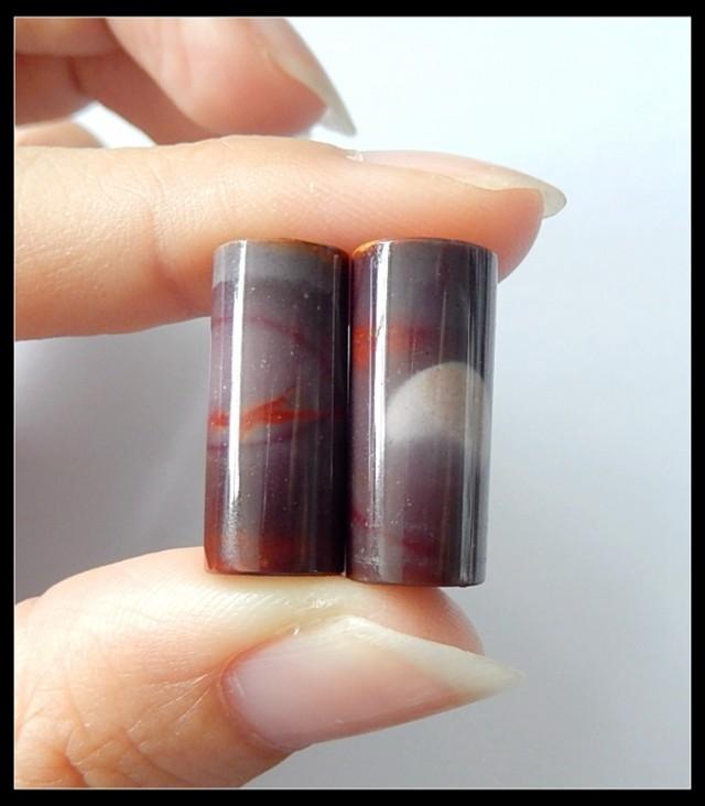 32Cts Natural Mookaite Jasper Gemstone Pair(B1804436)