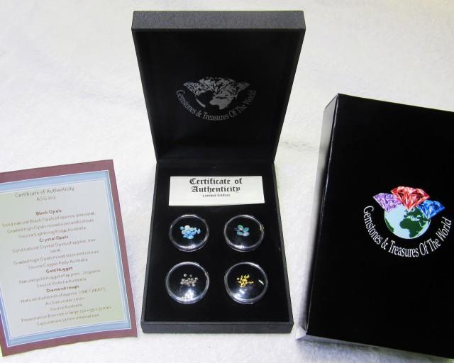 AUSTRALIA TREASURES DIAMONDS,GOLD,OPALS  ASG 102