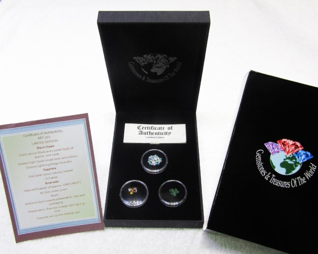 Treasures of World,Opals,sapphire,Emeralds AES102