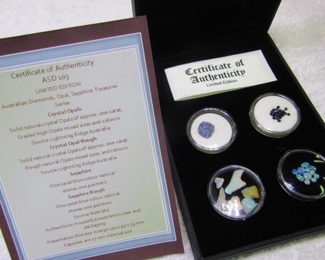 Treasures Opals and Sapphires Australian ASD103
