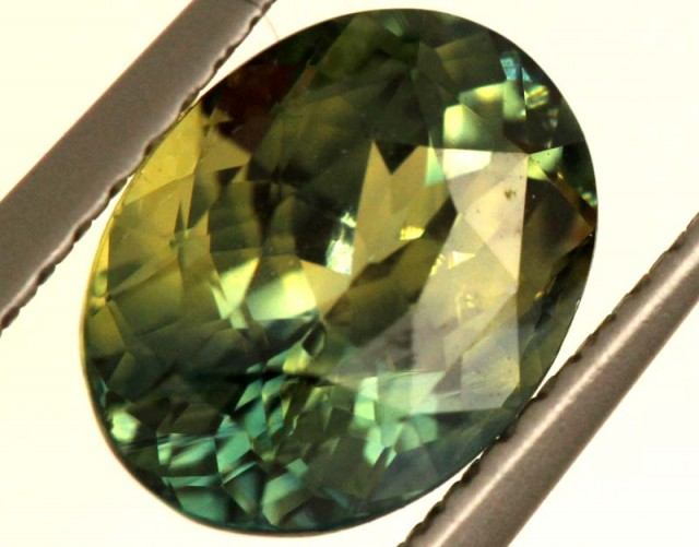 2.57 CTS CERTIFIED BI-COLOR SAPPHIRE FACETED  GEMSTONE   TBM- 758