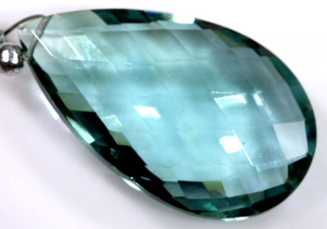 15 CTS GREEN QUARTZ FACETED BRIOLETTE  ANGC-329