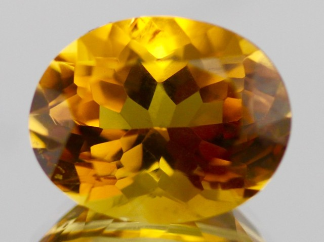 12.01cts Citrine oval-cut from Madagascar