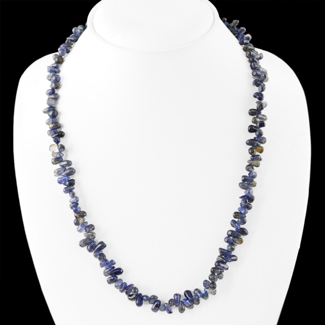 Genuine 150.00 Cts Blue Tanzanite Untreated Beads Necklace