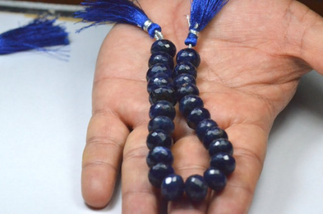 12mm to 11.5mm AAA grade faceted SODALITE rondelle beads