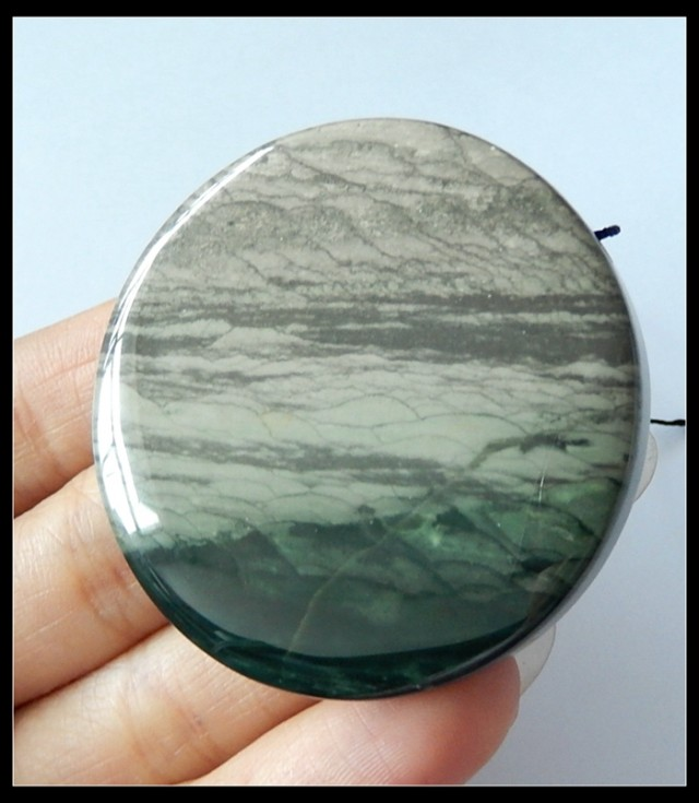 174Cts Healing Blue Wave Jasper Gemstone Bead,Natural