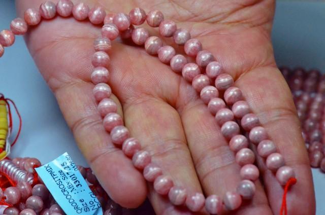 15.5onch line of rhodochrosite beads