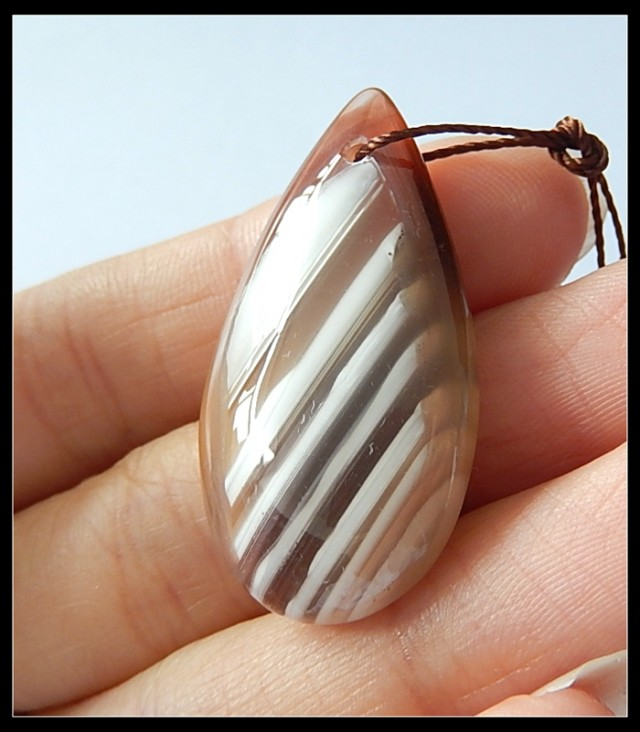 37CtsBeautiful Natural Agate Teardrop Gemstone Pendant Bead