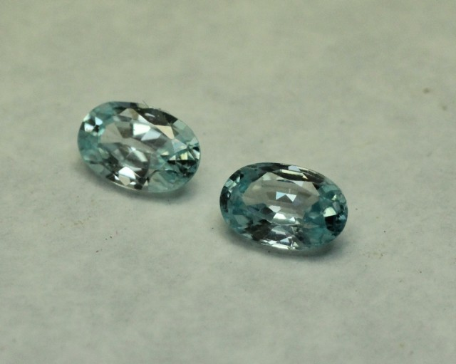 BLUE ZIRCON OVAL PAIR