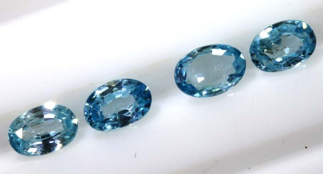 2.60 CTS BLUE ZIRCON FACETED STONE CG-2033