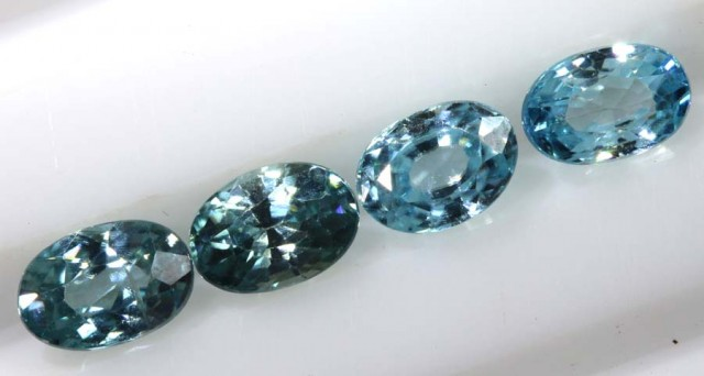 3.25 CTS BLUE ZIRCON FACETED STONE CG-2034