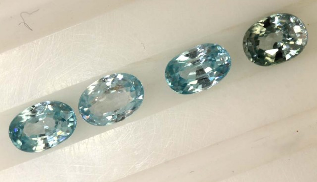 3.30 CTS BLUE ZIRCON FACETED STONE CG-2041