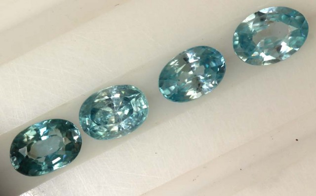 2.80 CTS BLUE ZIRCON FACETED STONE CG-2042