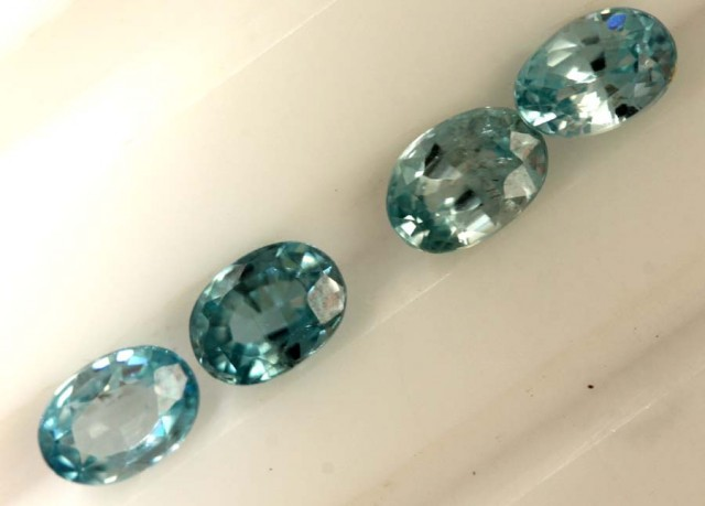 2.85 CTS BLUE ZIRCON FACETED STONE CG-2044