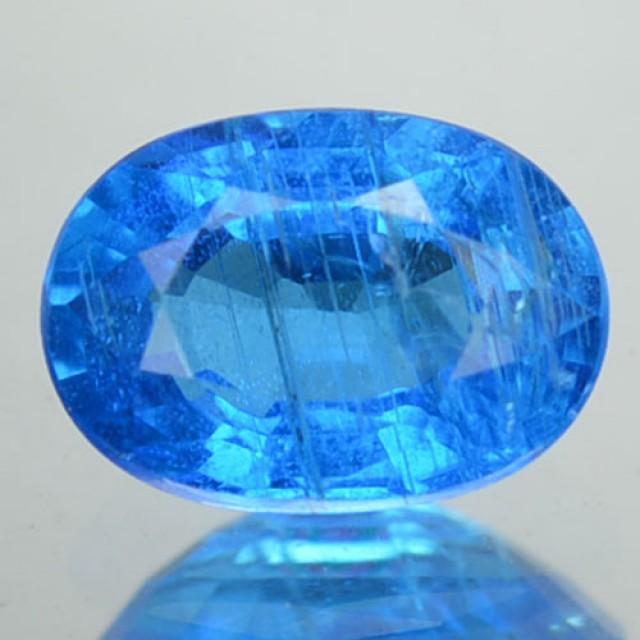 Natura Neon Blue Apatite Oval Cut Brazil Gem 0.73