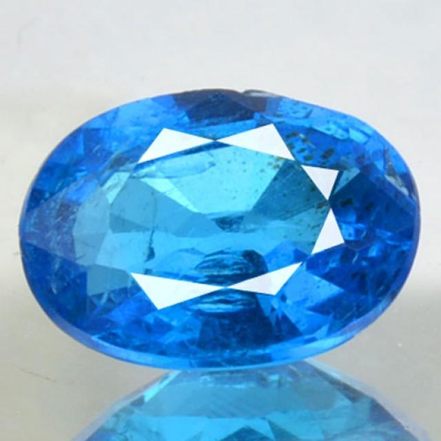Natural Neon Blue Apatite Ova Faceted Brazil Gem 0.72