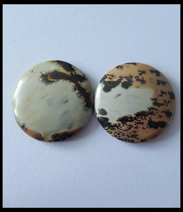 P0146 - 65.5Cts Natural Chohua Jasper Round Cabochon