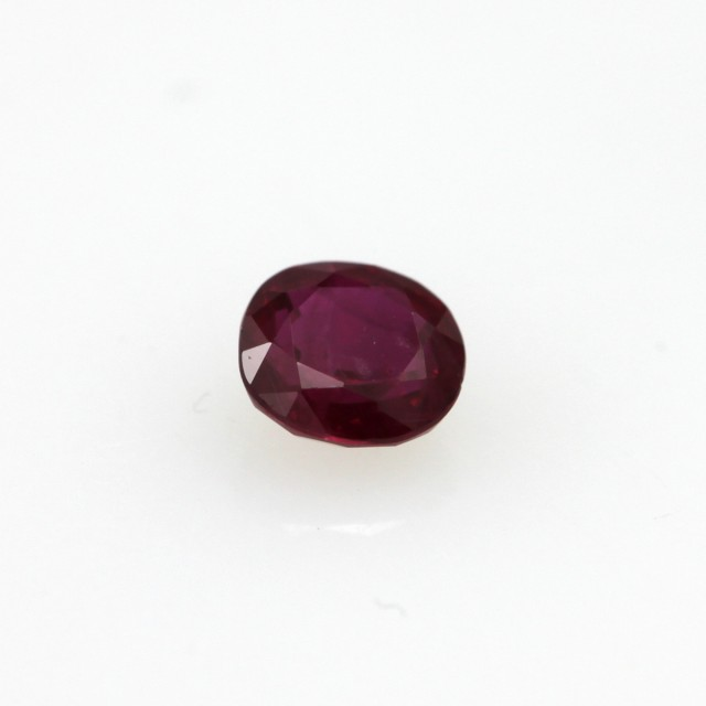 0.43cts Natural Burma Ruby Oval Cut